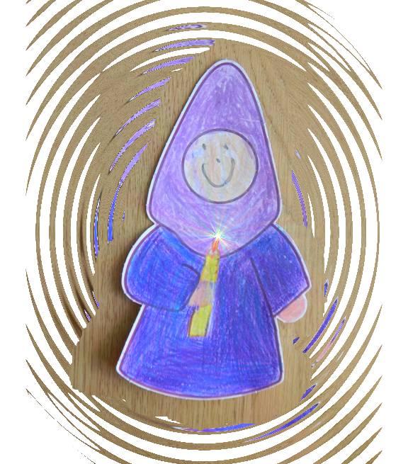 Nazareno 2012 coloreado por Laura (composición digital)